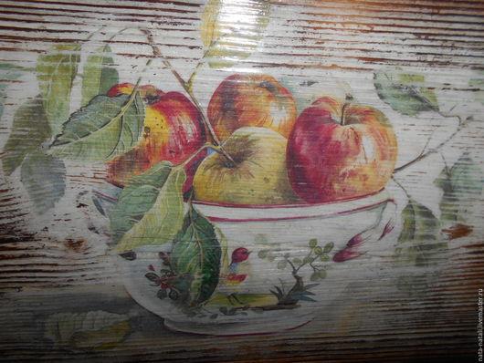 """Натюрморт ручной работы. Ярмарка Мастеров - ручная работа. Купить картина панно """"Яблочки"""". Handmade. Коричневый, ваза, картина на заказ"""