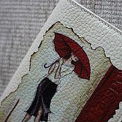 """Канцелярские товары ручной работы. Ярмарка Мастеров - ручная работа Обложка на паспорт """"Лондонский дождь"""". Handmade."""