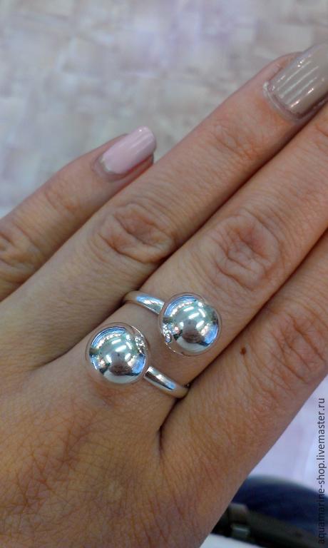 Кольца ручной работы. Ярмарка Мастеров - ручная работа. Купить Кольцо Шарики. Handmade. Серебряный, кольцо, кольцо без камней