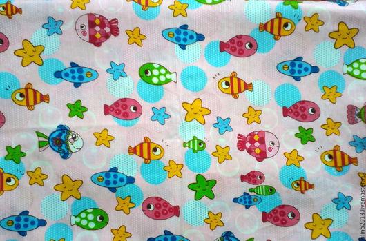 корейский детский хлопок Рыбки