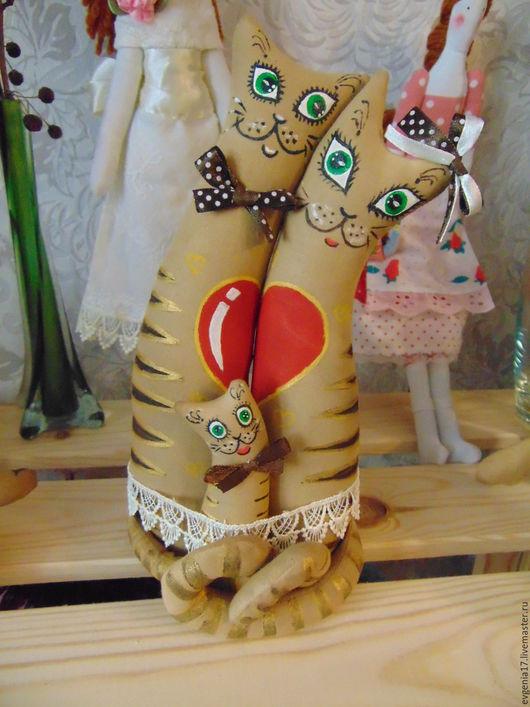 Ароматизированные куклы ручной работы. Ярмарка Мастеров - ручная работа. Купить семейка котиков. Handmade. Коричневый, кофейная игрушка