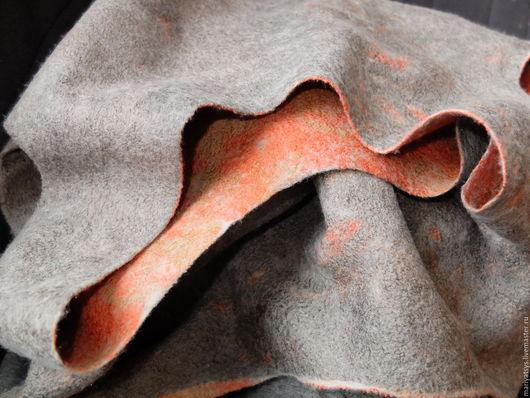 Платья ручной работы. Ярмарка Мастеров - ручная работа. Купить Платье из шерсти двустороннее. Handmade. Серебряный, вискоза, мягкое