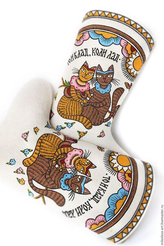 """Обувь ручной работы. Ярмарка Мастеров - ручная работа. Купить Валенки """"То и клад, коли лад"""". Handmade. Русский стиль"""