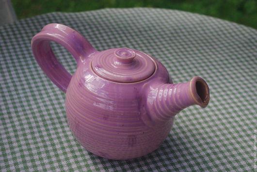 Чайники, кофейники ручной работы. Ярмарка Мастеров - ручная работа. Купить Розовый чайник в  горох. Handmade. Розовый, керамический чайник