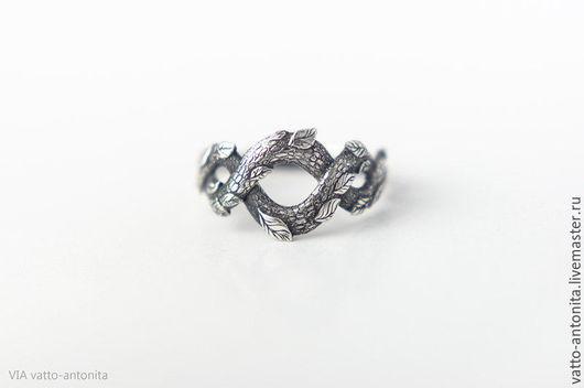 Кольца ручной работы. Ярмарка Мастеров - ручная работа. Купить кольцо из серебра Лесной Полоз со змеей. Handmade.