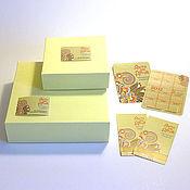"""Материалы для творчества ручной работы. Ярмарка Мастеров - ручная работа Упаковочный комплект """"Коробка +"""" с бесплатным дизайном. Handmade."""