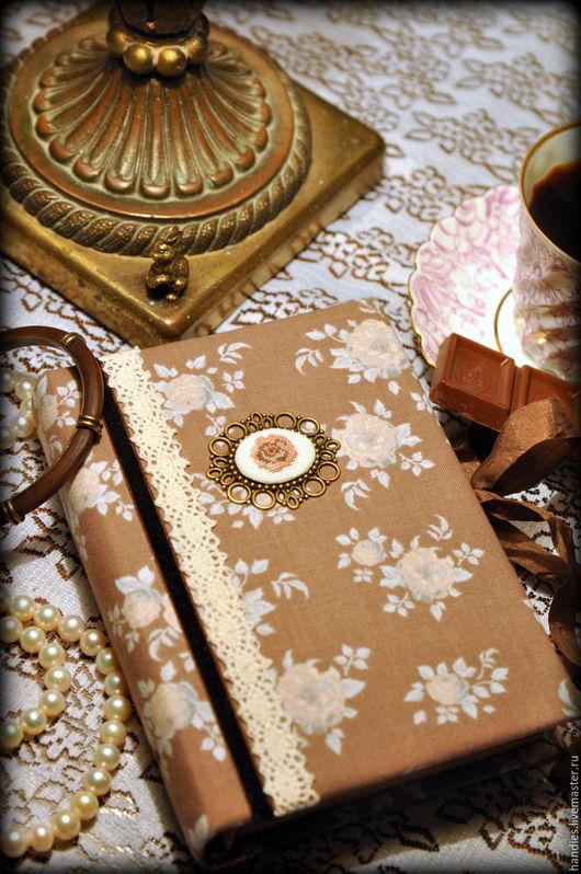 """Блокноты ручной работы. Ярмарка Мастеров - ручная работа. Купить Блокнот ручной работы """"Кофейная роза"""". Handmade. Блокнот для женщины"""
