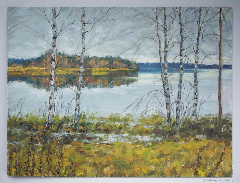 Картина маслом Осень (на озере), Картины, Иваново,  Фото №1