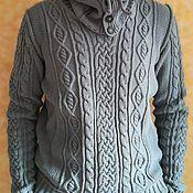 Одежда ручной работы. Ярмарка Мастеров - ручная работа Серый мужской полувер. Handmade.
