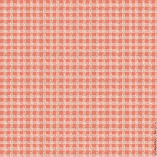 """Шитье ручной работы. Ярмарка Мастеров - ручная работа. Купить Ткань хлопок американский """"Клетка на розовом"""". Handmade. Комбинированный"""