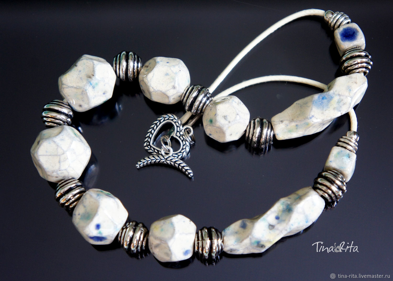 Ceramic beads ' Asasia', Jewelry Sets, Severobaikalsk,  Фото №1