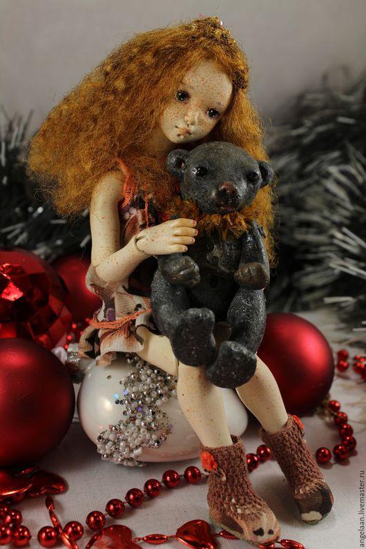 Коллекционные куклы ручной работы. Ярмарка Мастеров - ручная работа. Купить Доротея (шарнирная куколка из флюмо). Handmade. Комбинированный, подарок