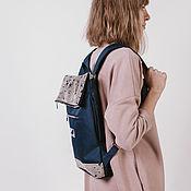 Рюкзаки ручной работы. Ярмарка Мастеров - ручная работа Рюкзак средний. Темно-синий. Облачность.. Handmade.