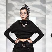 Одежда ручной работы. Ярмарка Мастеров - ручная работа DP_013 Болеро черное. Handmade.
