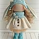 Коллекционные куклы ручной работы. Кукла-малыш Бирюзовый. **АSSORTIES** от Людмилы Сухановой. Интернет-магазин Ярмарка Мастеров. Голубой