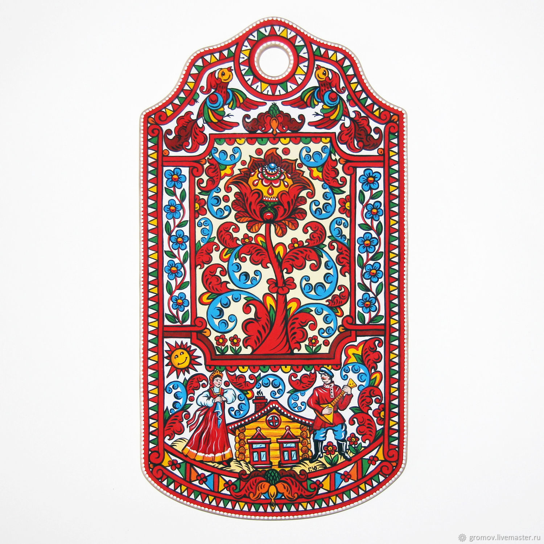 Расписная доска по мотивам Борецкой росписи, Народные сувениры, Москва, Фото №1