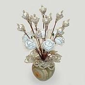 Цветы и флористика handmade. Livemaster - original item Flowers of pearls