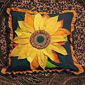 """Для дома и интерьера ручной работы. Ярмарка Мастеров - ручная работа подушки """"Подсолнух"""". Handmade."""