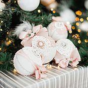 Сувениры и подарки handmade. Livemaster - original item Christmas decorations: powdery. Handmade.