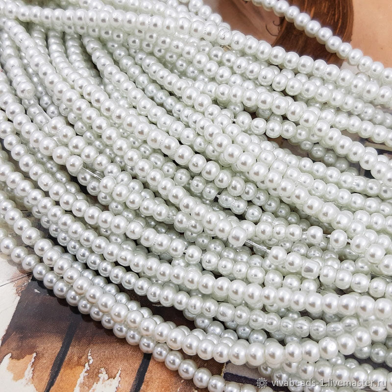 Thread Glass beads for pearls 3 mm (3256-3), Beads1, Voronezh,  Фото №1
