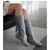 Обувь ручной работы. Ярмарка Мастеров - ручная работа Сапоги из натуральной кожи питона. Handmade.