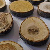 Сувениры и подарки ручной работы. Ярмарка Мастеров - ручная работа 12 магнитов из спилов дерева. Handmade.