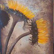 Картины и панно ручной работы. Ярмарка Мастеров - ручная работа Три подсолнуха. Handmade.