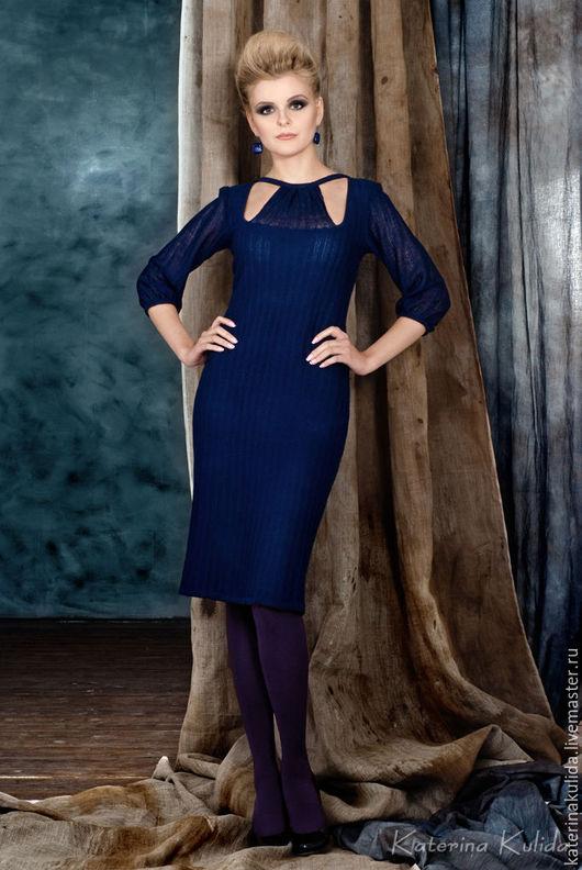 Платья ручной работы. Ярмарка Мастеров - ручная работа. Купить Платье цвета ночи. Handmade. Тёмно-синий, повседневное платье