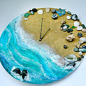 """Для дома и интерьера ручной работы. Ярмарка Мастеров - ручная работа Часы """"Время выйти к морю"""". Handmade."""
