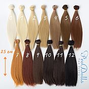 Doll hair handmade. Livemaster - original item Doll Straight Hair wefts 25 cm. Handmade.