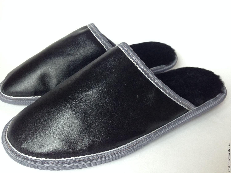 Тапочки кожаные мужские купить в москве