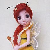 Куклы и игрушки ручной работы. Ярмарка Мастеров - ручная работа Пчелка-феечка. Handmade.