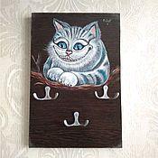 """Ключницы ручной работы. Ярмарка Мастеров - ручная работа Ключница """"Чеширский кот"""". Handmade."""