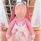 Куклы и игрушки ручной работы. Ярмарка Мастеров - ручная работа Зайка в розовом. Handmade.