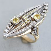 Украшения handmade. Livemaster - original item Gold ring with diamonds and sapphires. Handmade.
