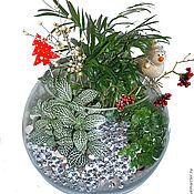 Подарки к праздникам ручной работы. Ярмарка Мастеров - ручная работа Новогодняя композиция - флорариум. Handmade.