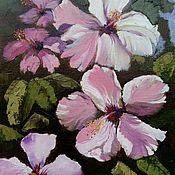 Картины и панно handmade. Livemaster - original item Painting Flowers Hibiscus. Handmade.