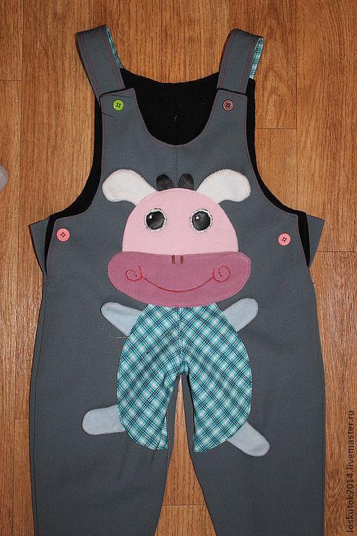 Одежда унисекс ручной работы. Ярмарка Мастеров - ручная работа. Купить Детские  штанишки (утепленные). Handmade. Рисунок, штанишки детские