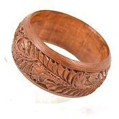 handmade. Livemaster - original item The band is rigid: Handmade Wooden Carved Bracelet. Handmade.
