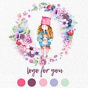 Дизайн и реклама ручной работы. Ярмарка Мастеров - ручная работа Цветочный логотип. Handmade.