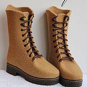 Обувь ручной работы. Ярмарка Мастеров - ручная работа Валяные  ботинки Карамель. Handmade.