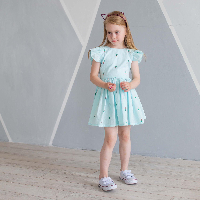 Одежда для девочек, ручной работы. Ярмарка Мастеров - ручная работа. Купить Сарафан детский «Морковки» (тиффани). Handmade. Сарафан