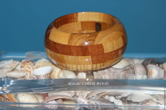 """Браслеты ручной работы. Ярмарка Мастеров - ручная работа. Купить Браслет  деревянный """"Морской песок"""""""". Handmade. Комбинированный, деревянный браслет"""
