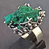 Кольца ручной работы. Ярмарка Мастеров - ручная работа Чудное кольцо с малахитом в серебре,выполненное в ручную.. Handmade.