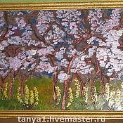 Картины и панно ручной работы. Ярмарка Мастеров - ручная работа весенний сад. Handmade.