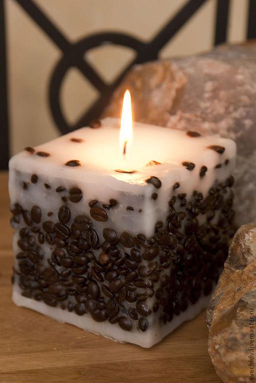 Свечи ручной работы. Ярмарка Мастеров - ручная работа. Купить Свеча кофейная. Handmade. Коричневый, кофе подарок, интерьер, ароматизированный