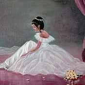 Картины и панно ручной работы. Ярмарка Мастеров - ручная работа Балеринка - картина маслом. Handmade.