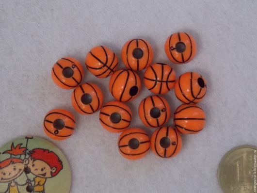 Другие виды рукоделия ручной работы. Ярмарка Мастеров - ручная работа. Купить Бусины Мячи баскетбольные. Handmade. Оранжевый, бусины