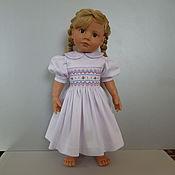 Куклы и игрушки ручной работы. Ярмарка Мастеров - ручная работа кукольное платье, вышитое вручную буфами. Handmade.