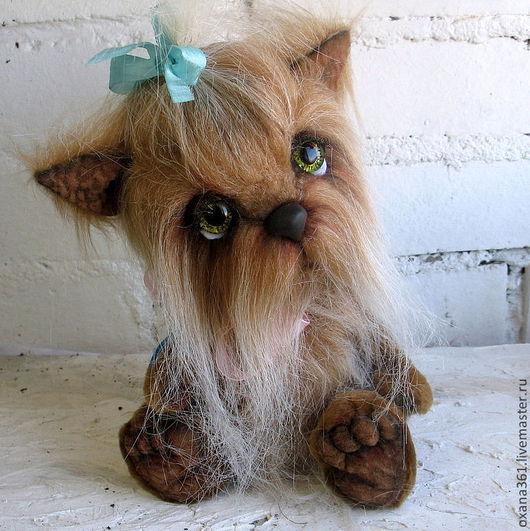 """Мишки Тедди ручной работы. Ярмарка Мастеров - ручная работа. Купить Собака Друзья Тедди  """"щенок  Прима"""". Handmade. Собака"""